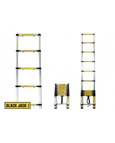 Escalera telescópica de aluminio 2,6 metros Black Jack