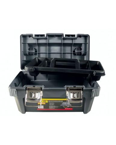 """Caja de herramientas plástica cierre metálico con bandeja BLACK JACK 25,5"""""""