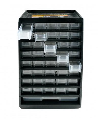 Organizador plástico 41 cajones Black Jack 300 x 490 x 138 mm