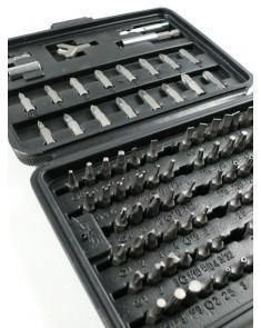 Juego de puntas surtidas BLACK JACK set x 100 pcs con organizador plástico