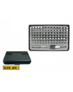 Juego de puntas surtidas para atornillar BLACK JACK x 100 pcs