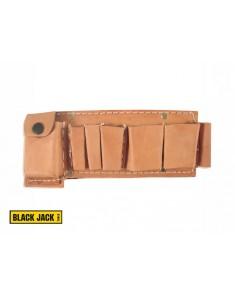 Cinturon colgante porta herramientas de cuero 5 divisiones BLACK JACK