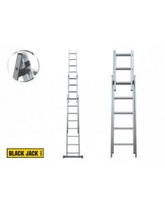 Escalera de aluminio extensible 5.44 metros 3 tramos Black Jack